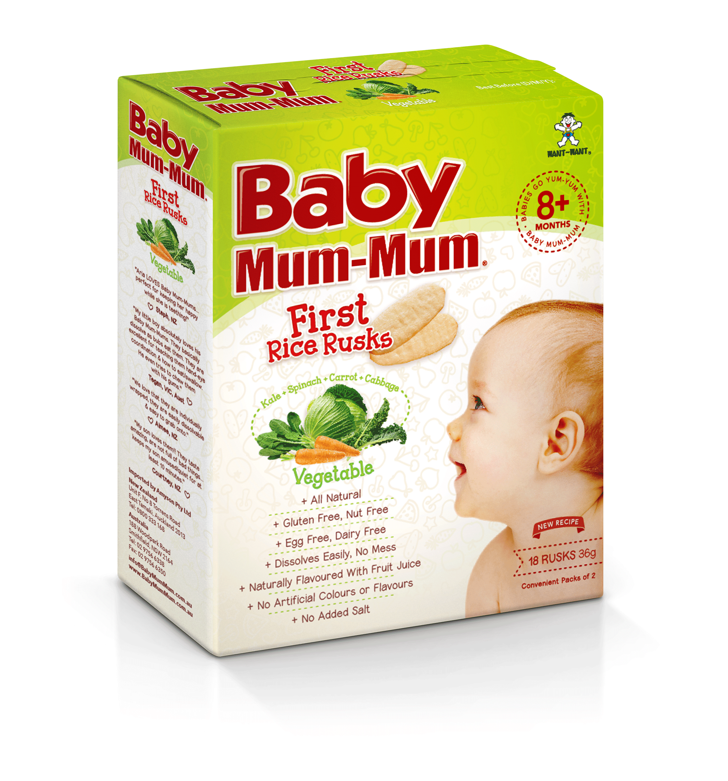 Baby Mum-Mum First Rice Rusk Vegetable Flavour