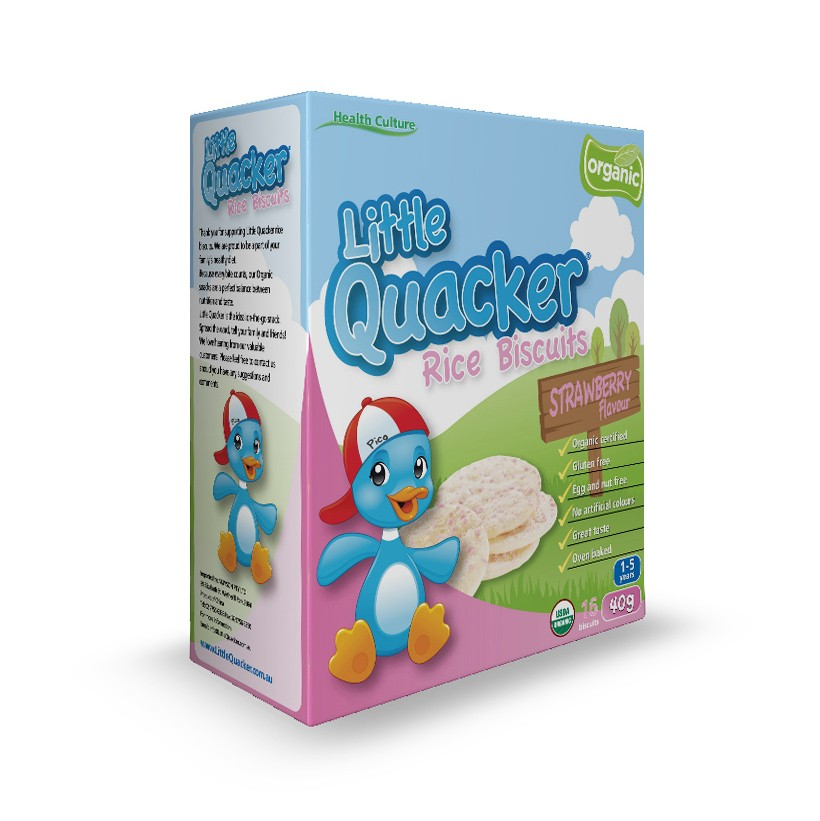 Little Quacker Rice Biscuit Strawberry Flavour (40g)