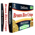 DeliGrains Brown Rice Crisps Black Sesame Seed